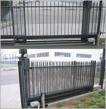 messa a norma impianto di automazione DEA cancello oleodinamico elettrico Mantova